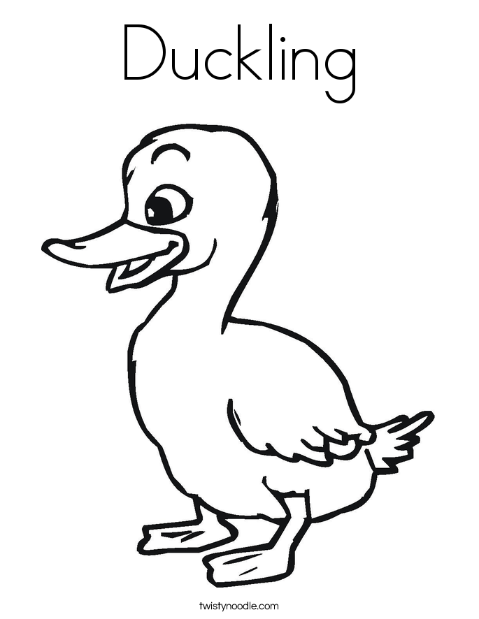 685x886 Duckling Coloring Pages
