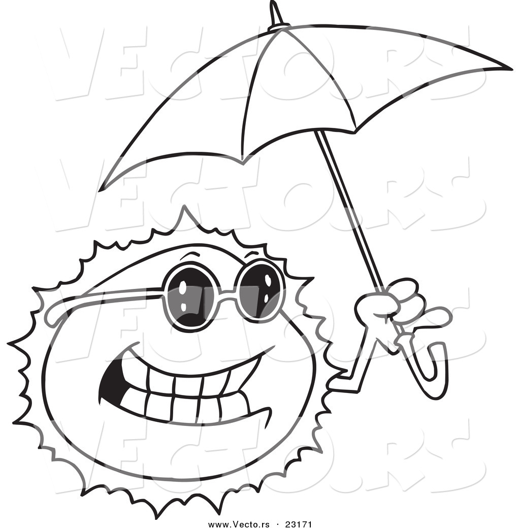 1024x1044 Umbrella Coloring Pages For Kids Printable Drawing Page Sheet Free