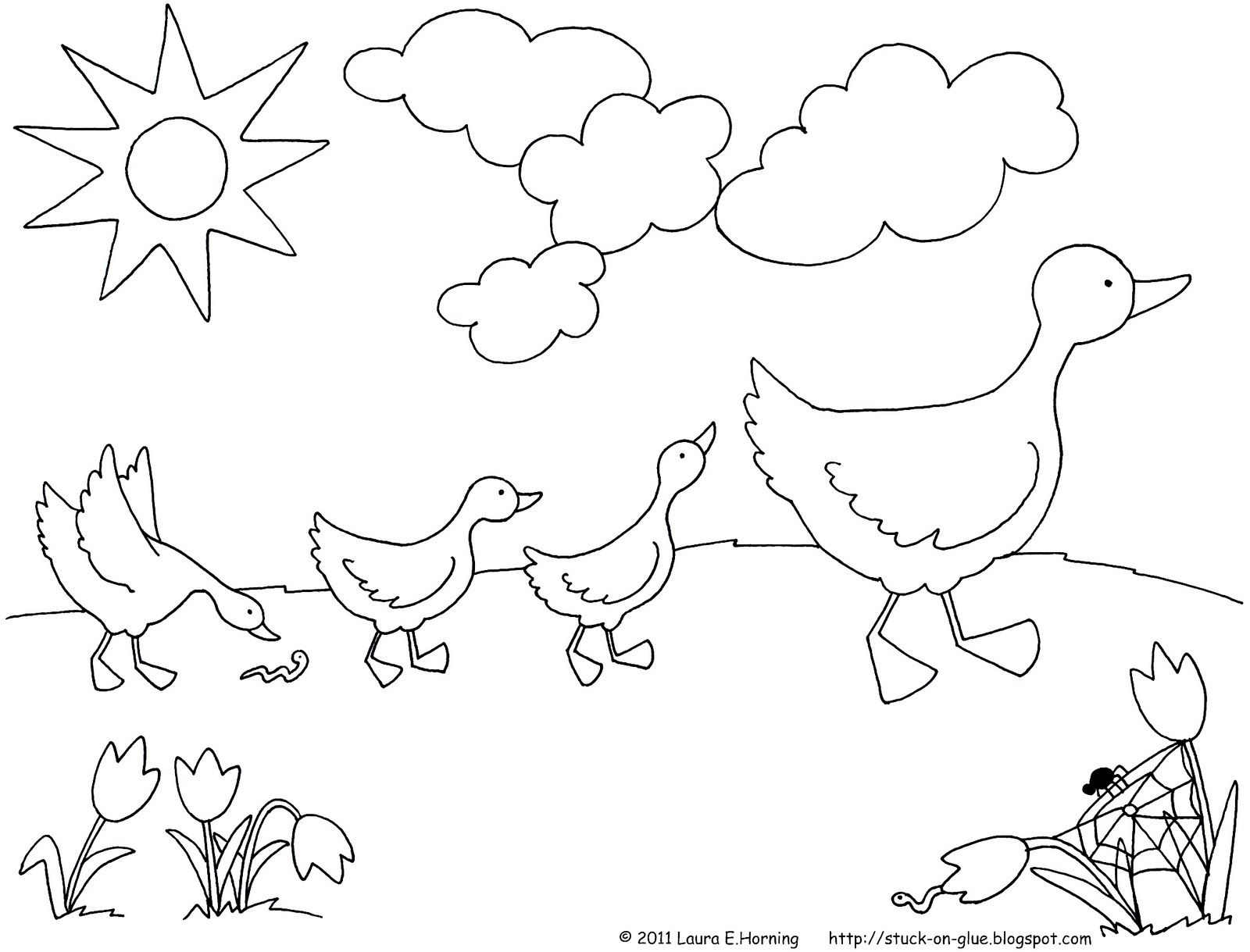 1600x1219 Give Your Octopus A Paintbrush (Or 8) Printable Ducks In A Row