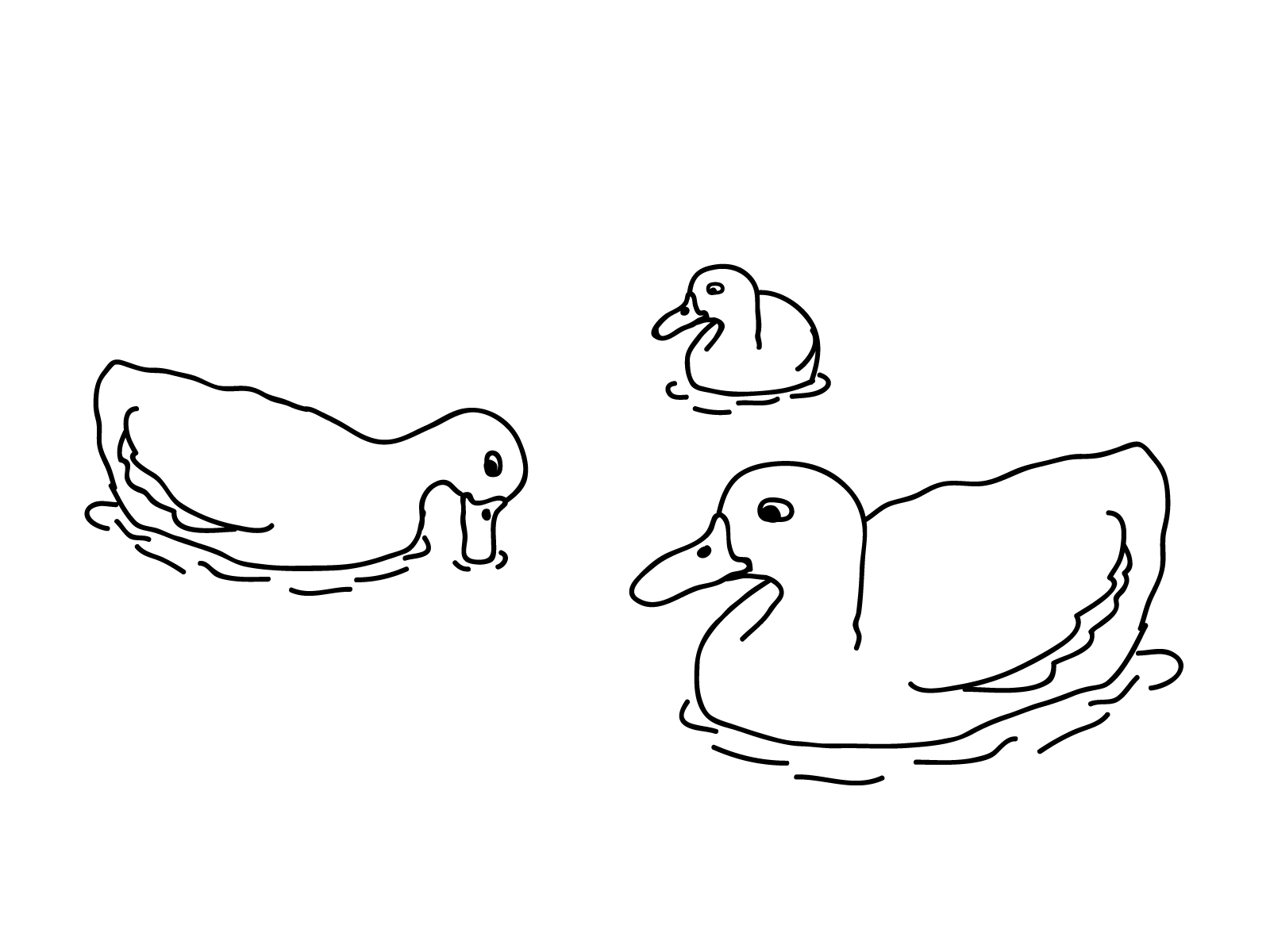 1600x1200 Free Printable Duck Coloring Pages For Kids