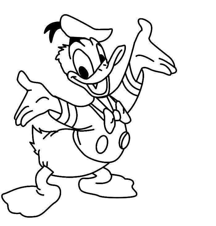 700x734 Drawn Duck Coloring Page
