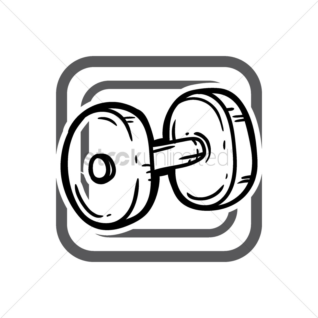 1300x1300 Dumbbell Icon Vector Image