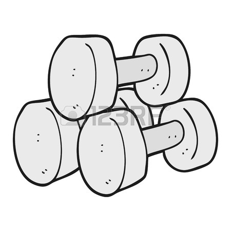 450x450 Freehand Drawn Cartoon Dumbbells Royalty Free Cliparts, Vectors