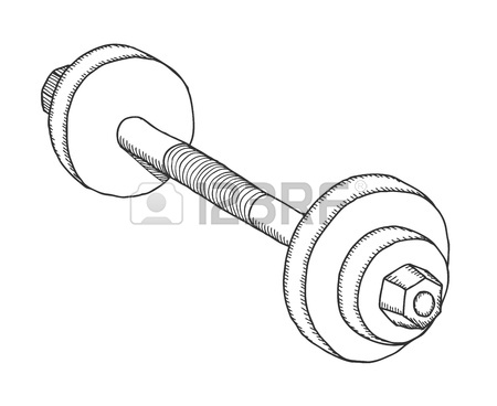 450x368 Hand Drawn Dumbbell, Vector Illustration Royalty Free Cliparts