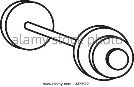 450x292 Drawing Dumbbell Gym Equipment Sport Image Stock Vector Art