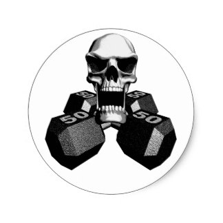 324x324 Skull And Dumbbells Gifts On Zazzle