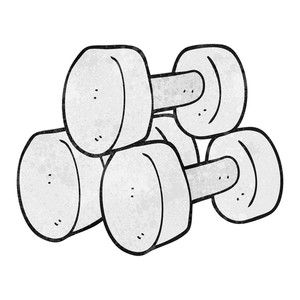 300x300 Dumbbells Royalty Free Vectors