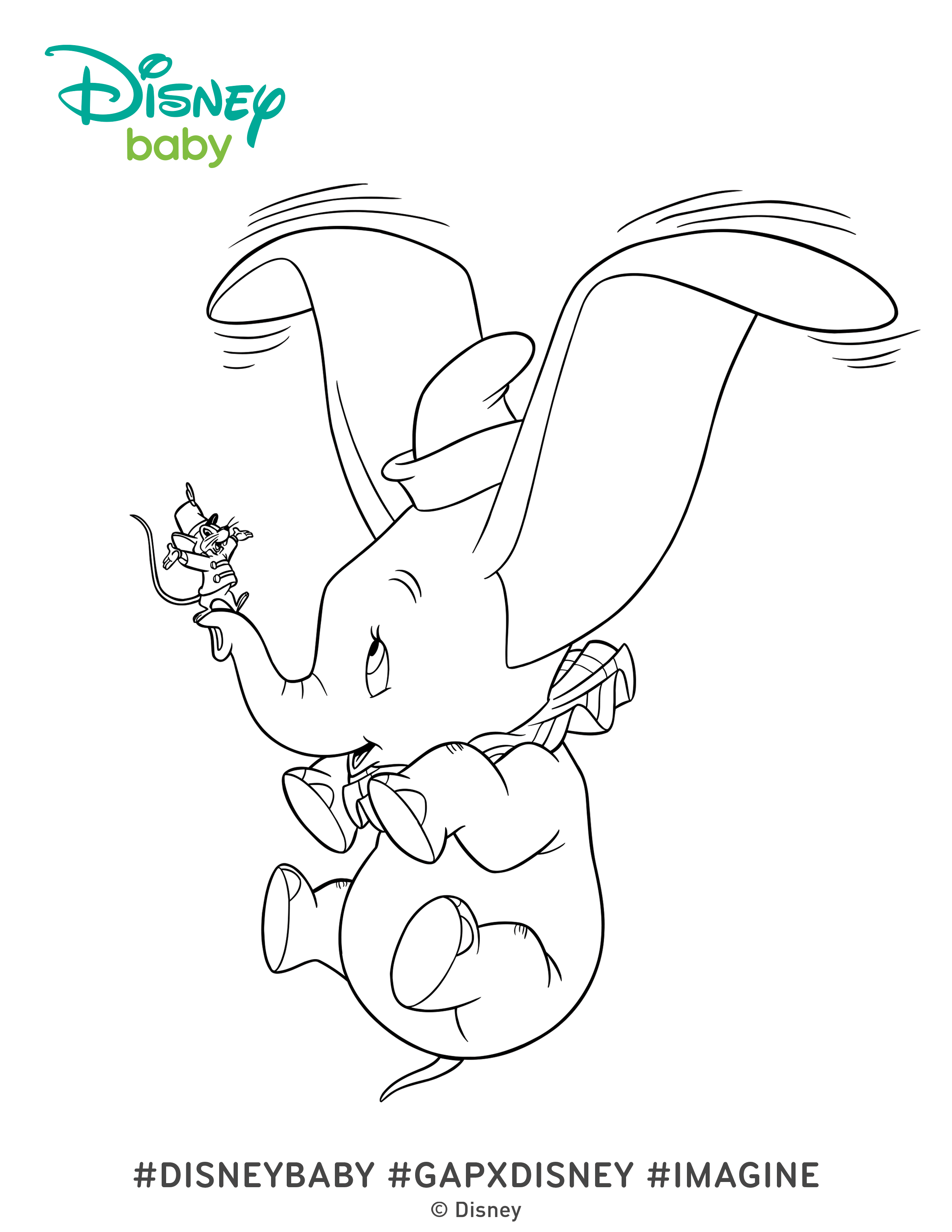 2550x3300 Dumbo Coloring Pages Disney Baby