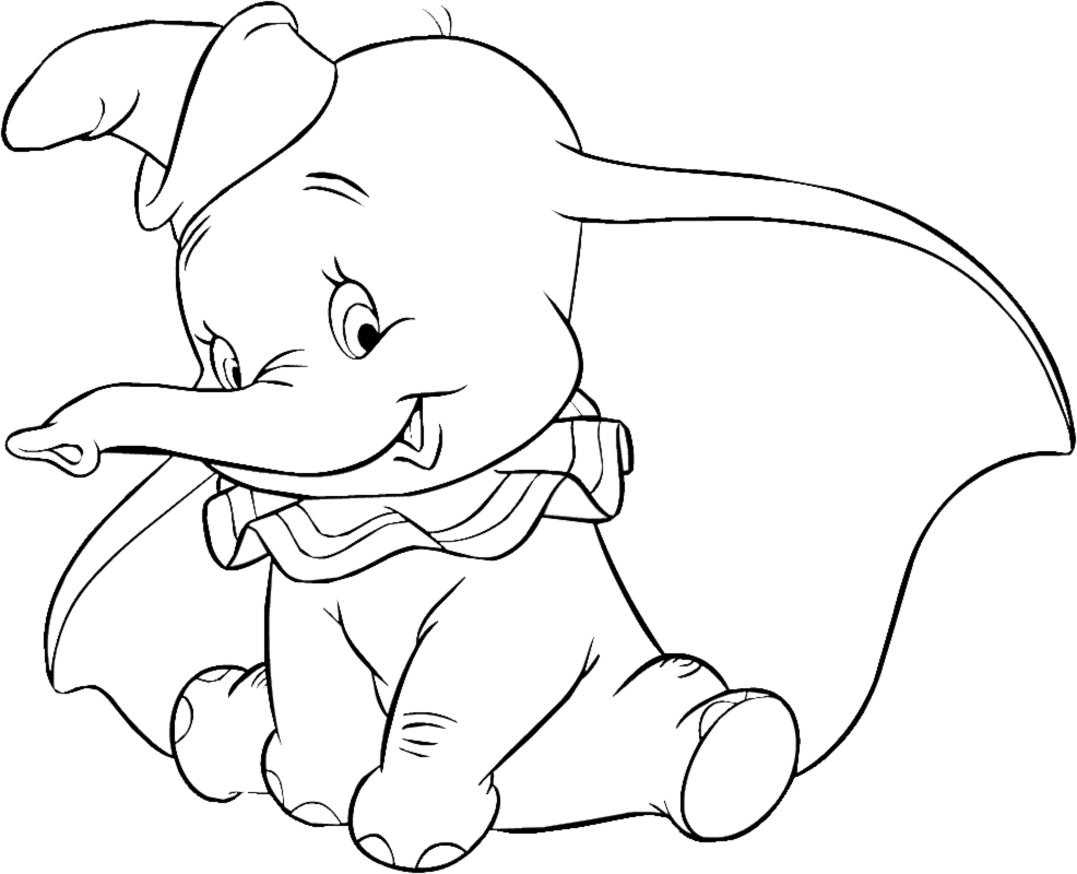 986x800 Dumbo Coloring Pages