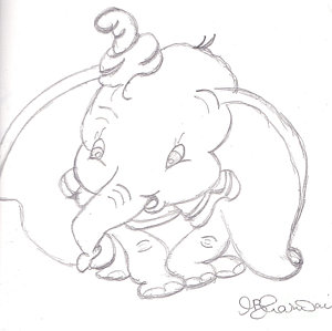 300x299 Dumbo Drawings Fine Art America