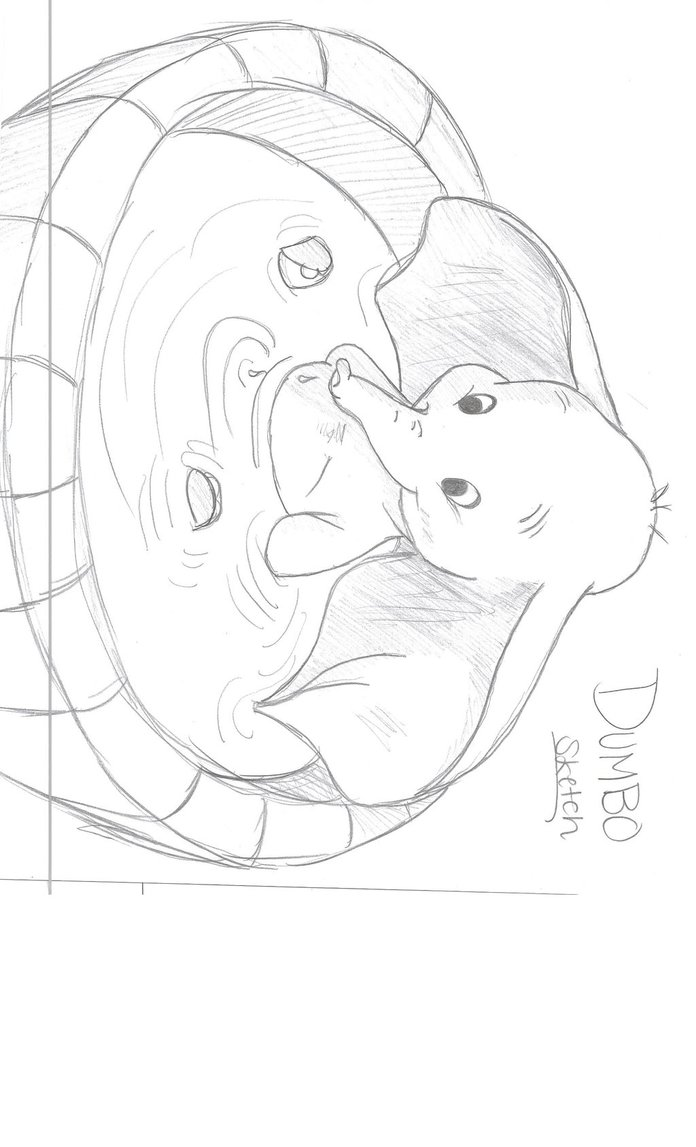 696x1147 Dumbo Sketch Drawing By Julietcapulet432