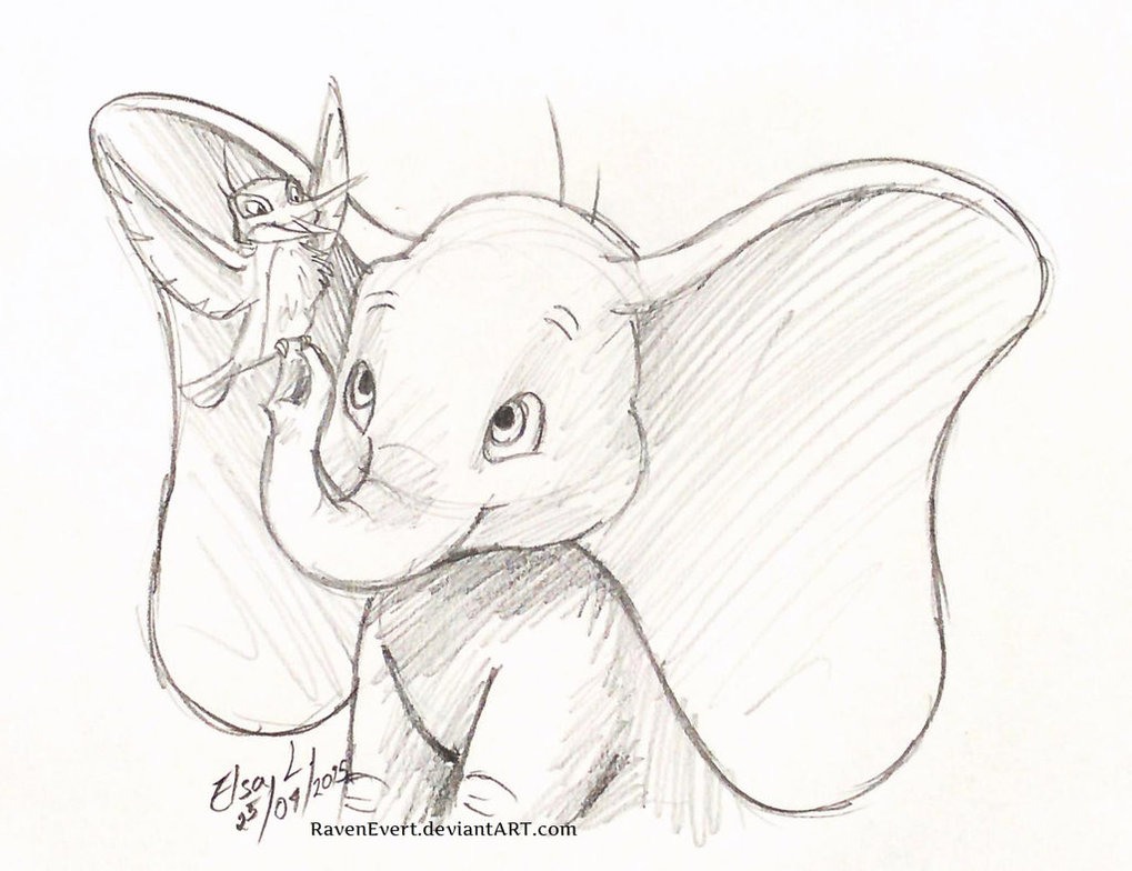 1019x784 Dumbo Playing Sketch