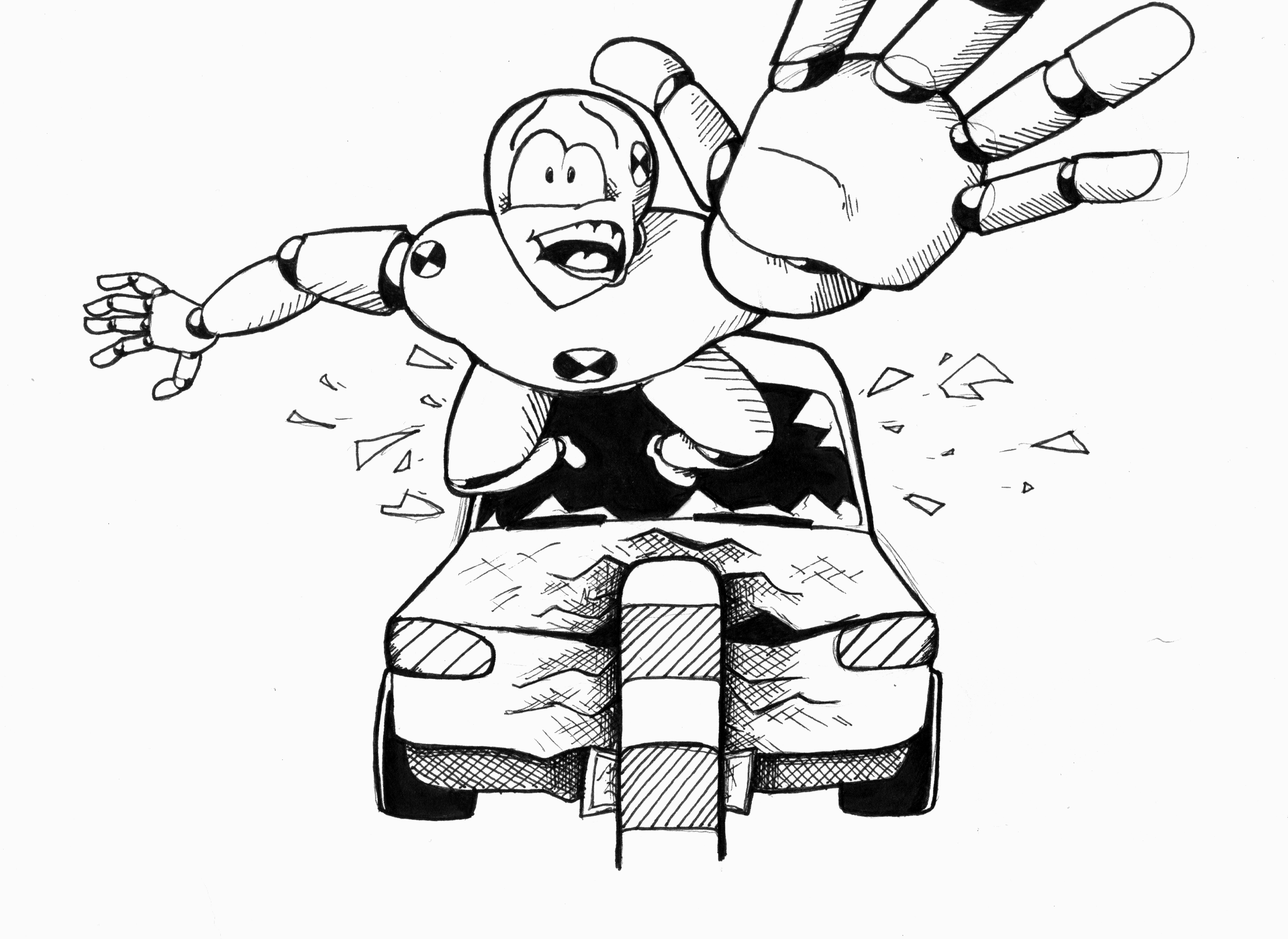 Dummy drawing at free for personal use for Car crash coloring pages