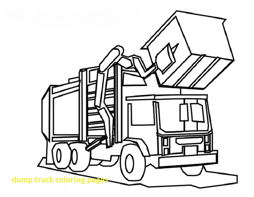841x650 Dump Truck Coloring Pages With Coloring Page Dump Truck