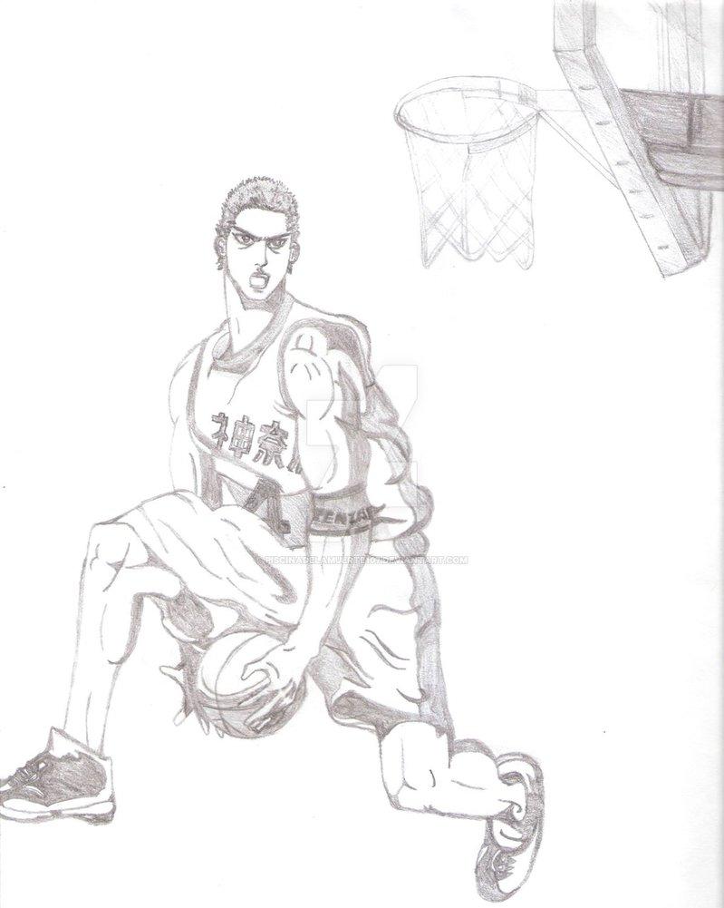 799x1001 Es Un Fanart Original De Hanamichi Sakuragi De Slam Dunk,lo