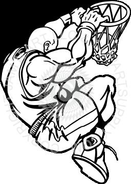 256x361 Slam Dunk Clipart Black And White