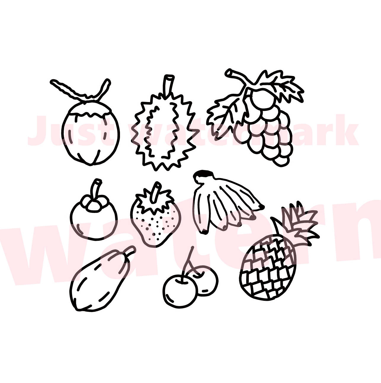 Durian Drawing At Getdrawings Com Free For Personal Use Durian