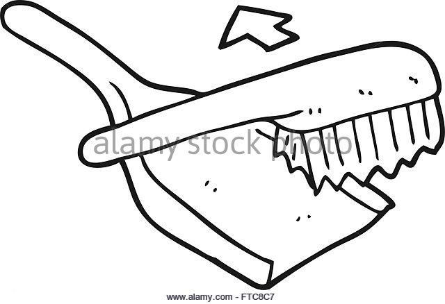 640x438 Freehand Drawn Cartoon Dustpan Brush Stock Photos Amp Freehand Drawn