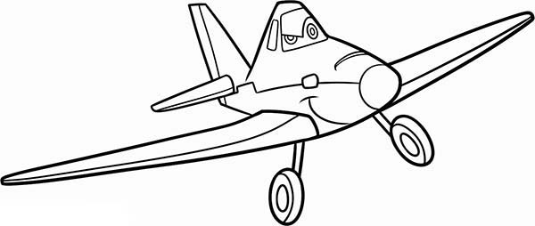 600x254 Dusty Crophopper Coloring Pages Free