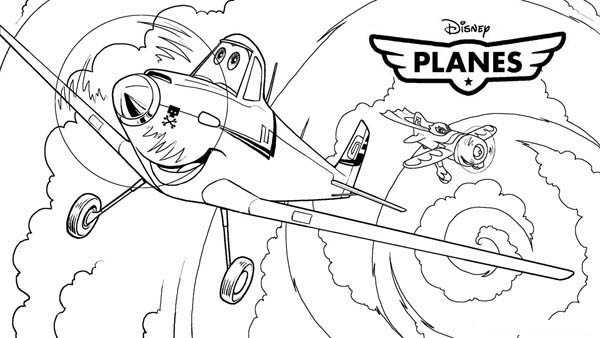 600x338 Dusty Airplane Coloring Pages