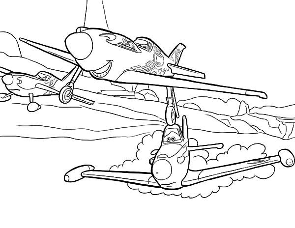 600x464 Dusty Crophopper Coloring Pages