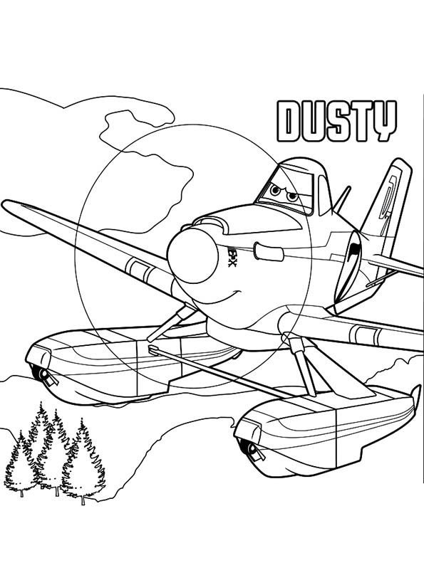 595x822 Planes 2 Kleurplaat Dusty