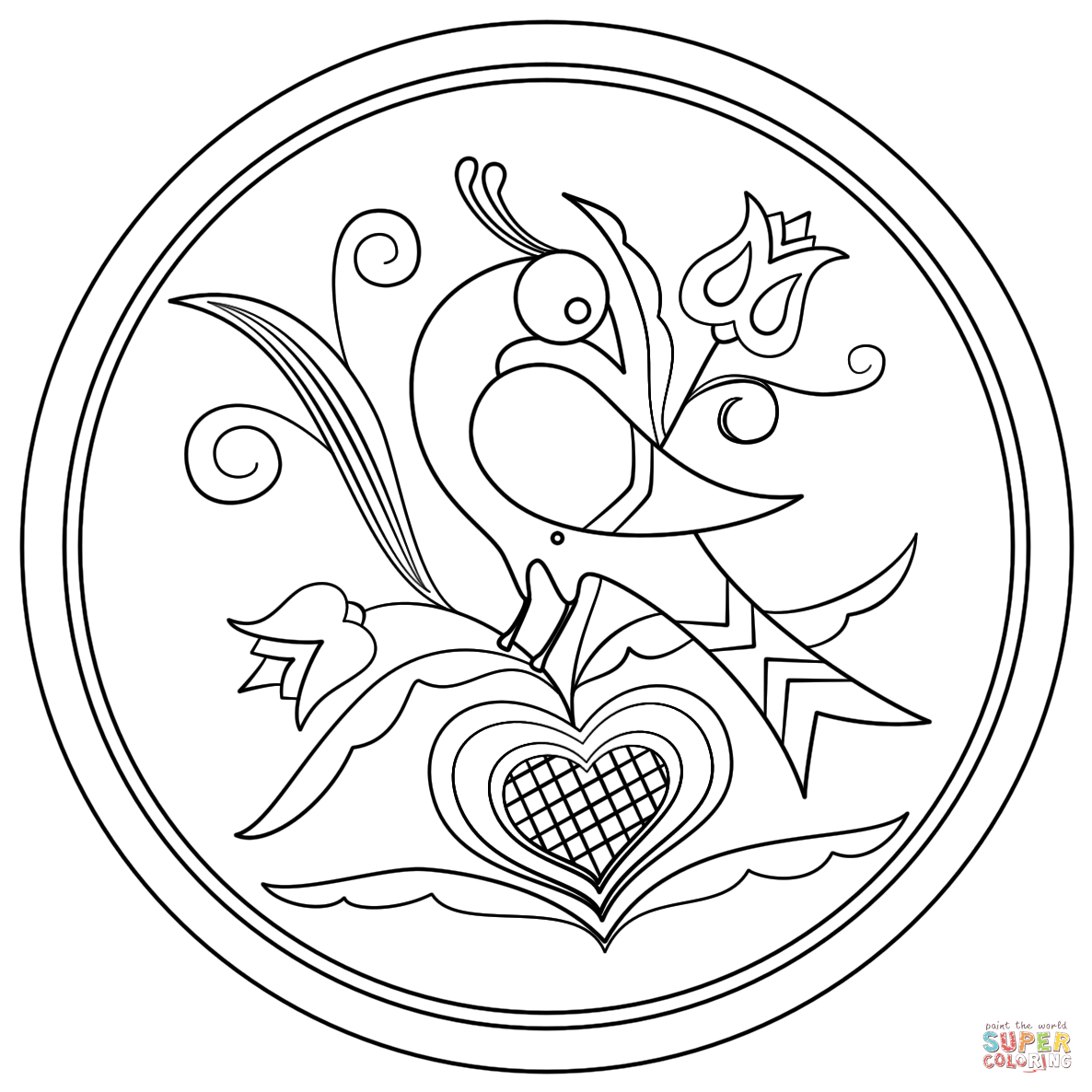 1186x1186 Pennsylvania Dutch Art Coloring Pages Free