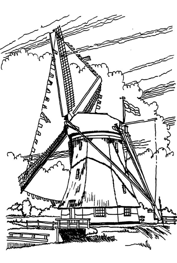 600x890 a giant windmills in dutch coloring pages batch coloring