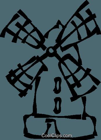 348x480 Dutch Windmill Royalty Free Vector Clip Art Illustration Vc023025