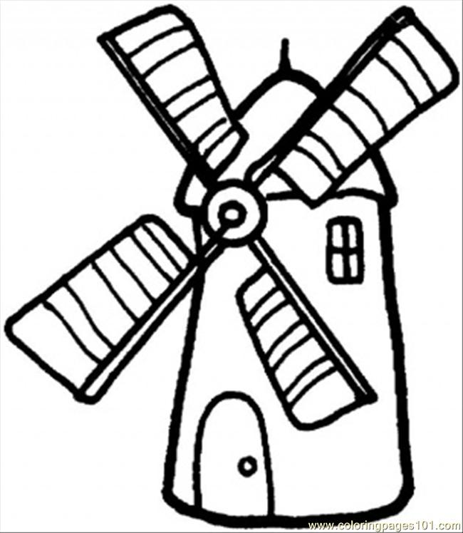 650x748 Windmill Coloring Pages Printable Let's Color!