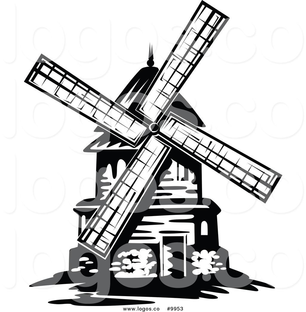 1024x1044 Dutch Windmill Clipart
