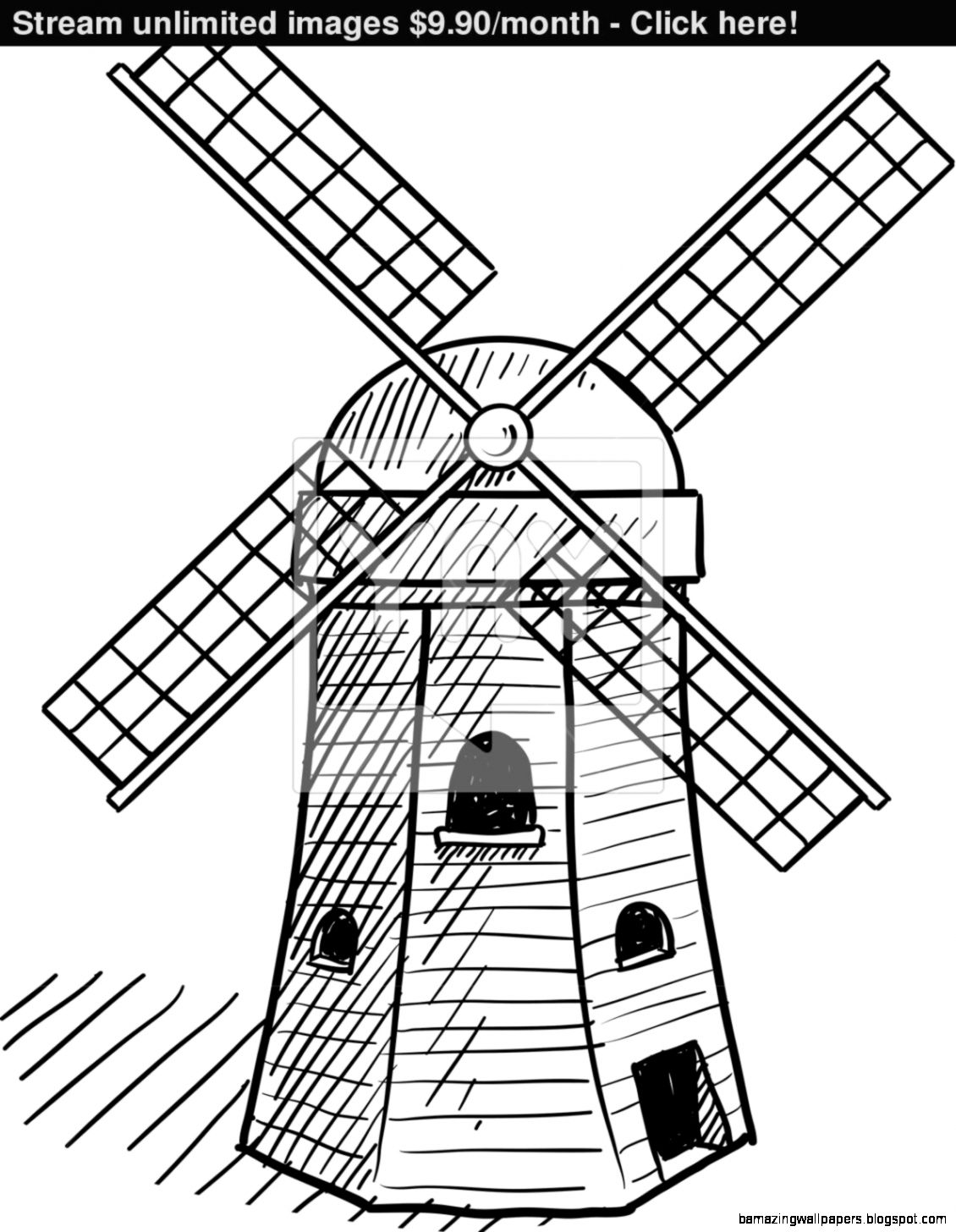 1130x1456 Dutch Windmill Drawing Amazing Wallpapers