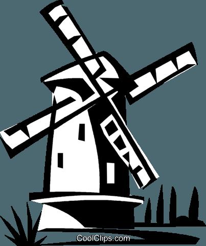 403x480 Dutch Windmill Royalty Free Vector Clip Art Illustration Vc021122