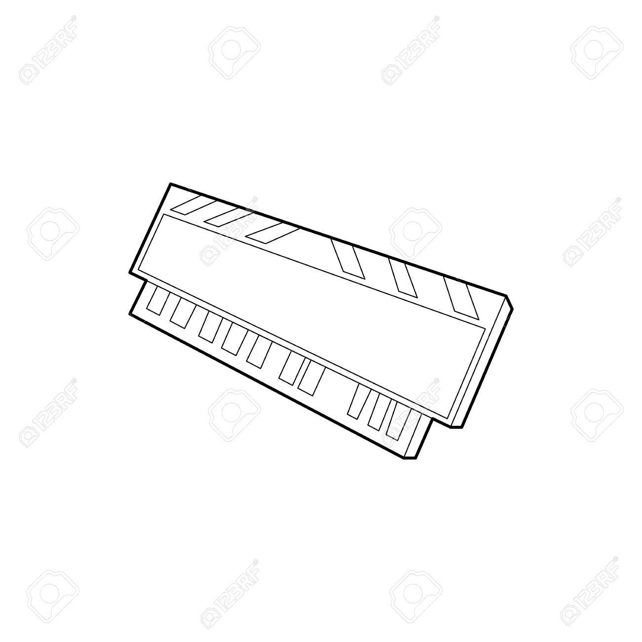 1300x1300 Dvd Ram Module For The Personal Computer Icon In Outline Style