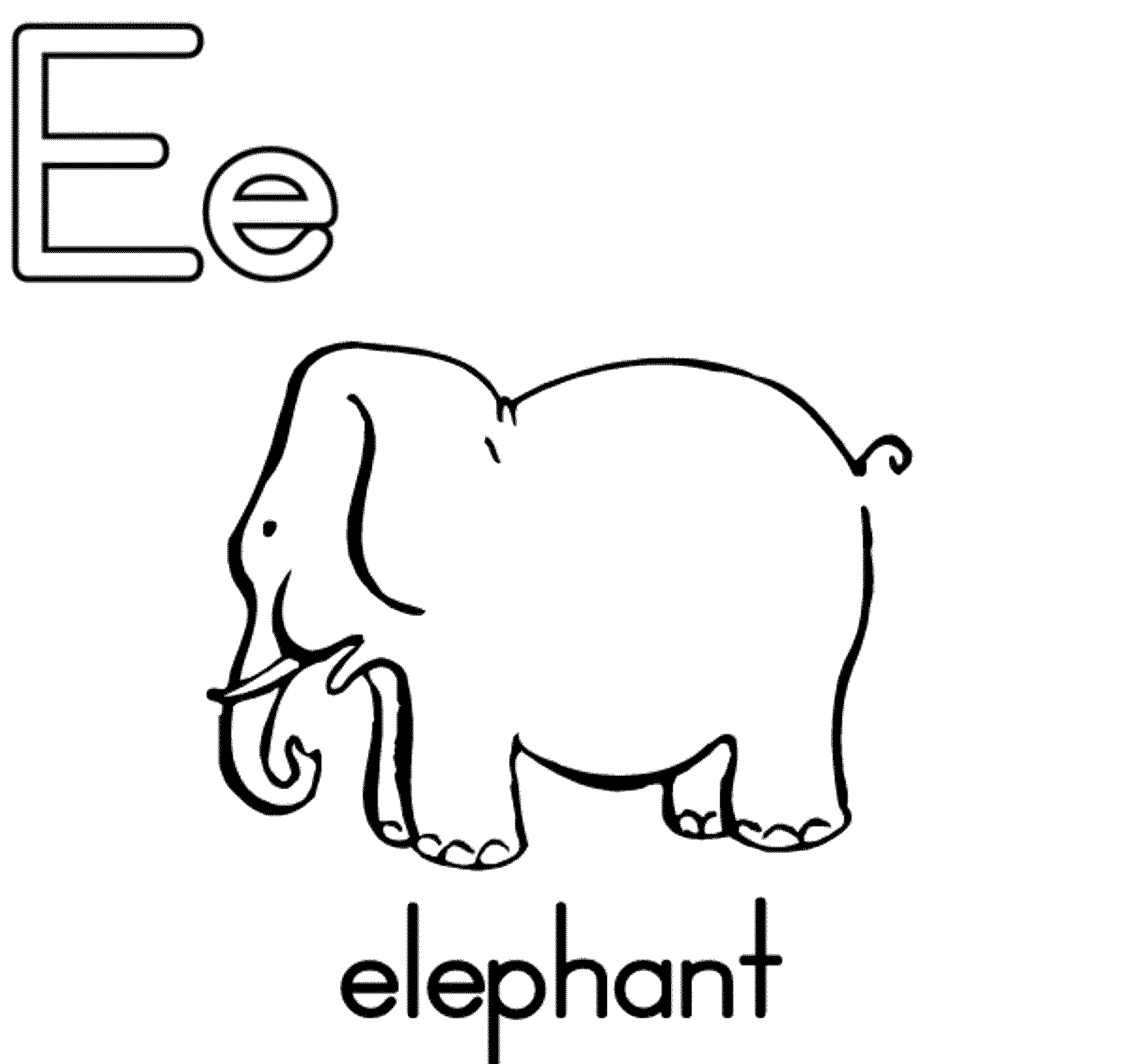 2000x1887 Letter E Coloring Pages