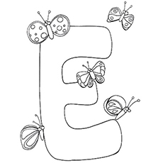 230x230 Top 10 Free Printable Letter E Coloring Pages Online