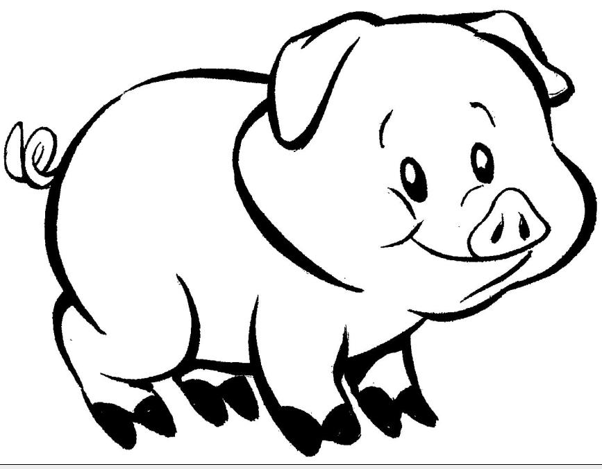 867x676 Desenhos Para Colorir De Porcos Porquinhos Fofos Para Pintar