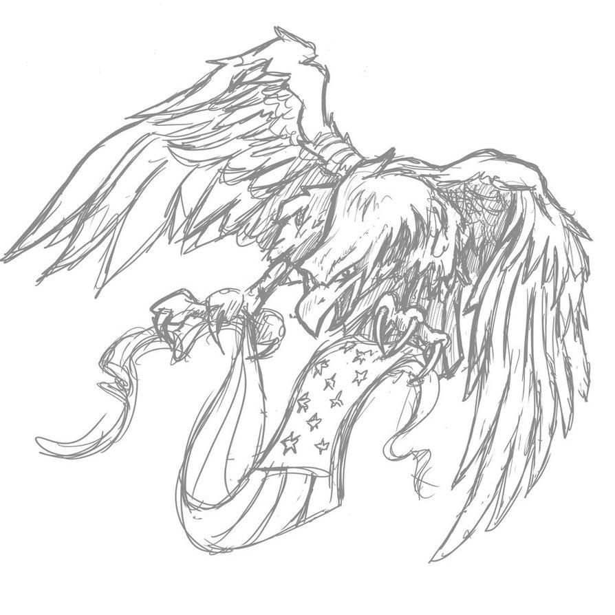 894x894 Eagle And Flag Banner By Crhinehart