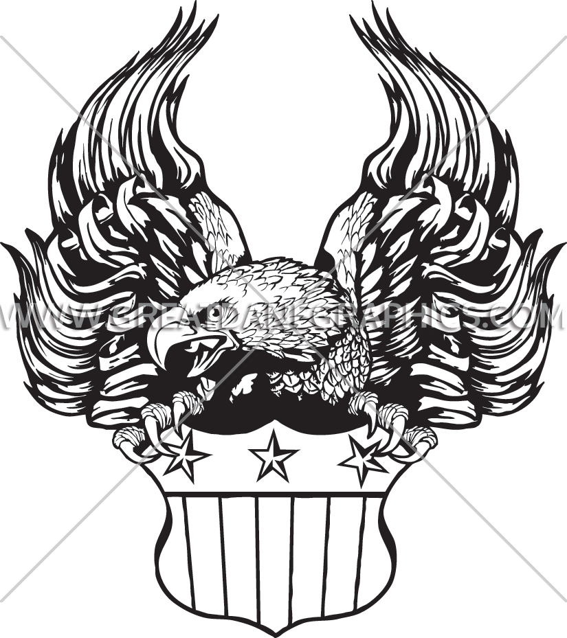 825x929 Flag Eagle With Crest Production Ready Artwork For T Shirt Printing