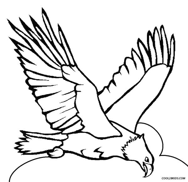 600x580 Printable Eagle Coloring Pages For Kids Cool2bkids