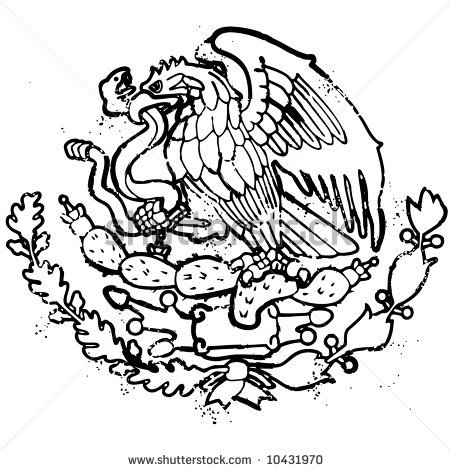 450x470 Simplistic Mexican Flag Drawings How To Draw The Eagle