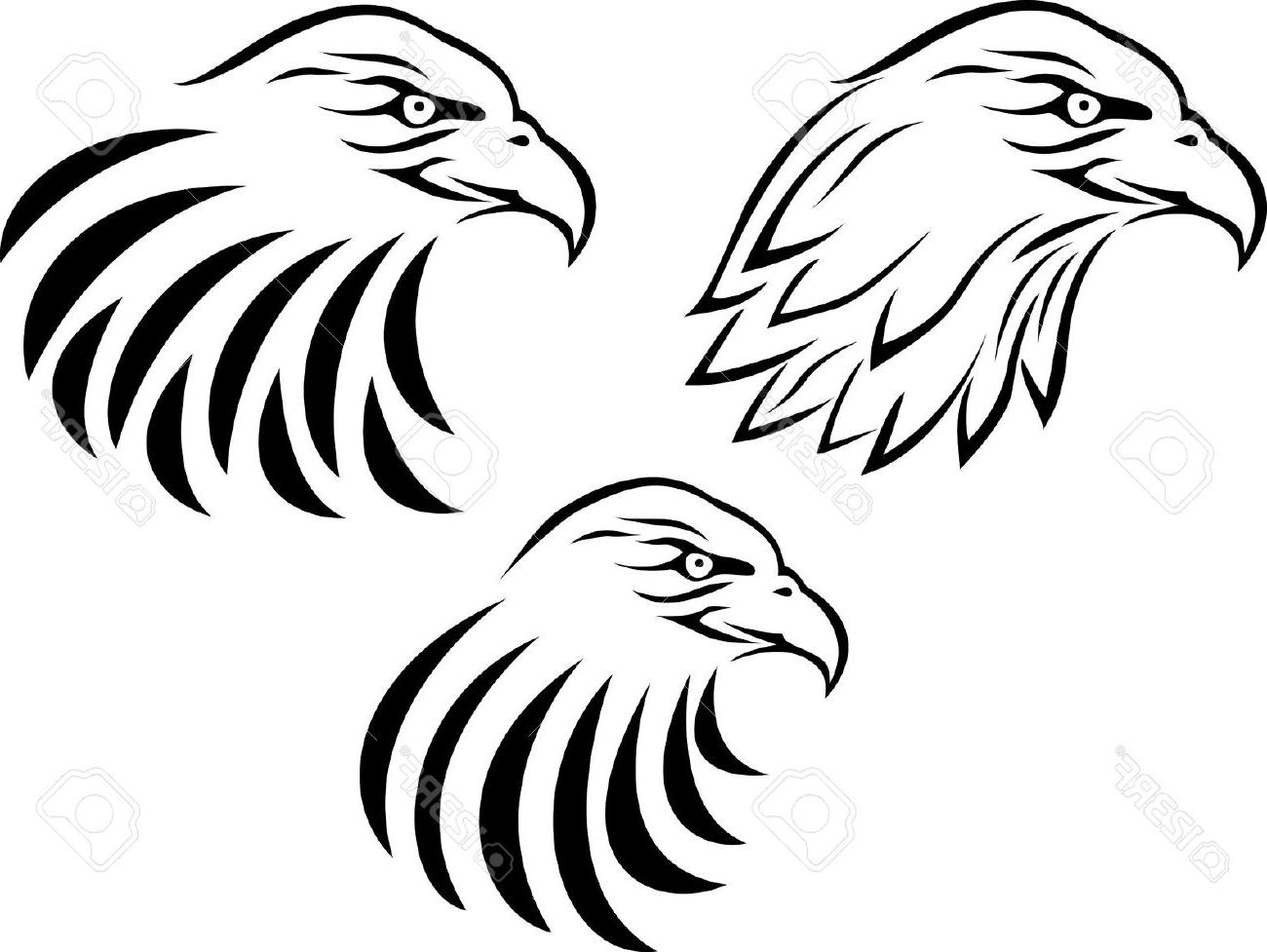1300x977 Unique Eagle Head Tattoo Stencils Vector Image Free Vector Art