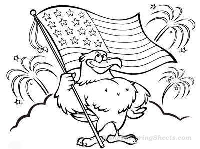400x298 Eagle And Flag Coloring Pages Coloring Pages