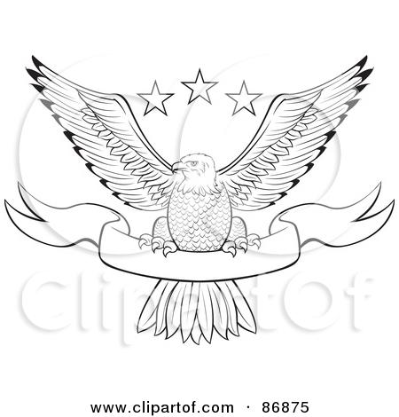450x470 Eagle Banner Clipart