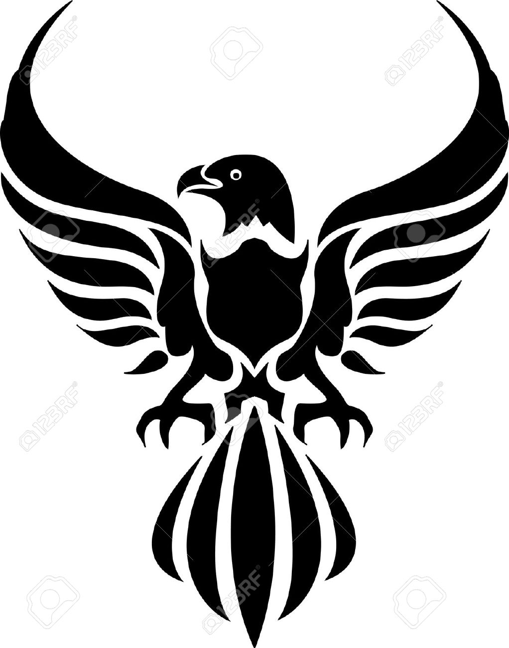 1022x1300 Black And White Eagle Drawing 27,851 Eagle Stock Vector