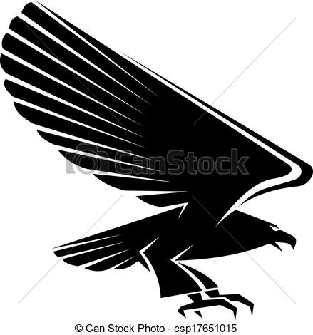 439x470 Black Eagle Clipart Drawing