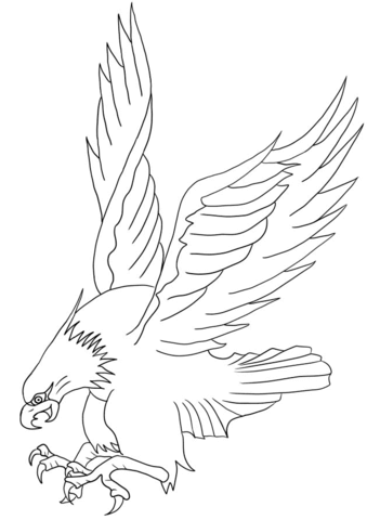 339x480 Bald Eagle Attacking Coloring Page Free Printable Coloring Pages