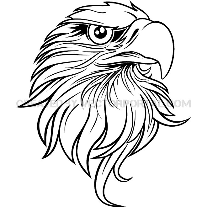 660x660 Eagle Black And White Vector