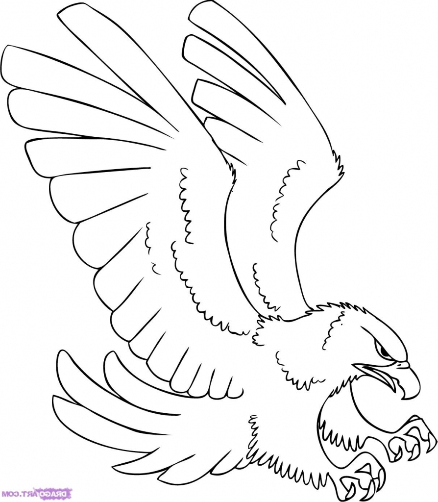 894x1024 Eagle Cartoon Drawing How To Draw A Cartoon Hawk Step Step Cartoon