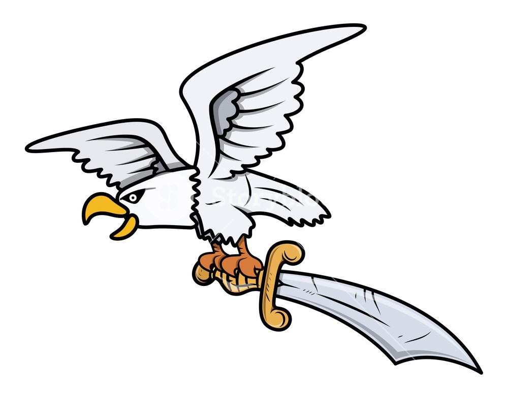 1000x785 Snow Eagle Carrying Sword
